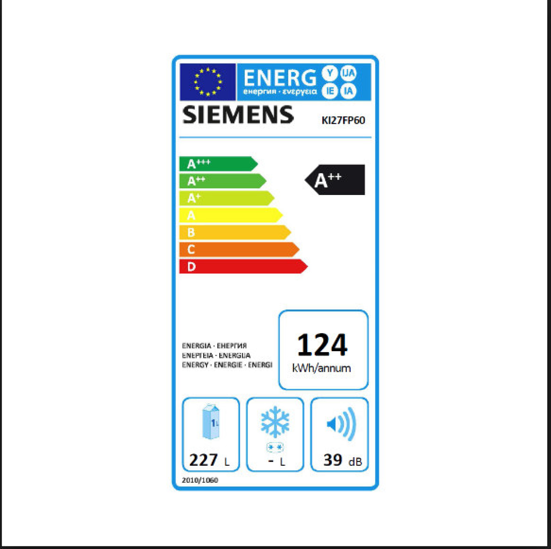 Siemens Energielabel KI127fp60