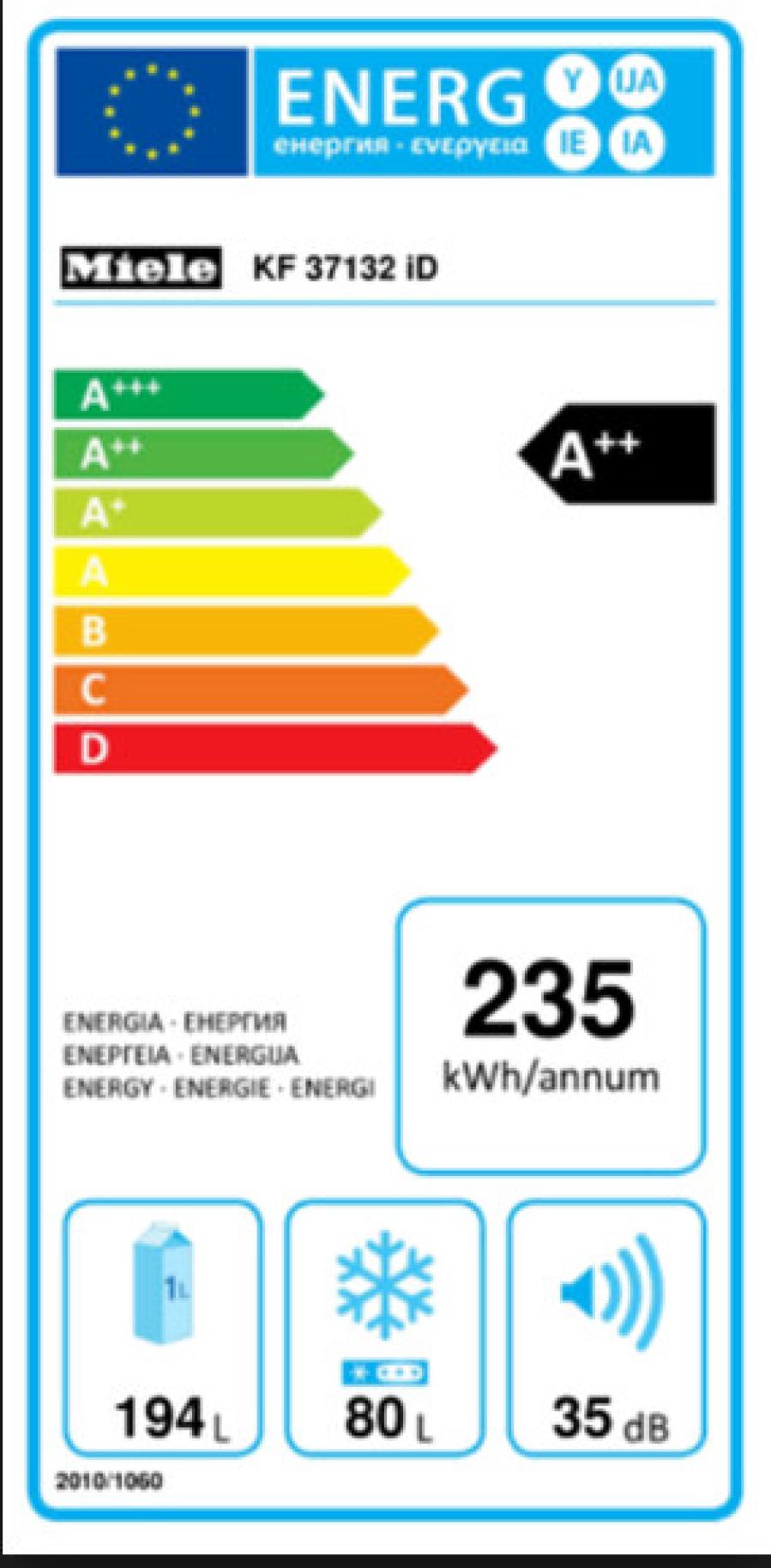 Miele Energielabel kf37132