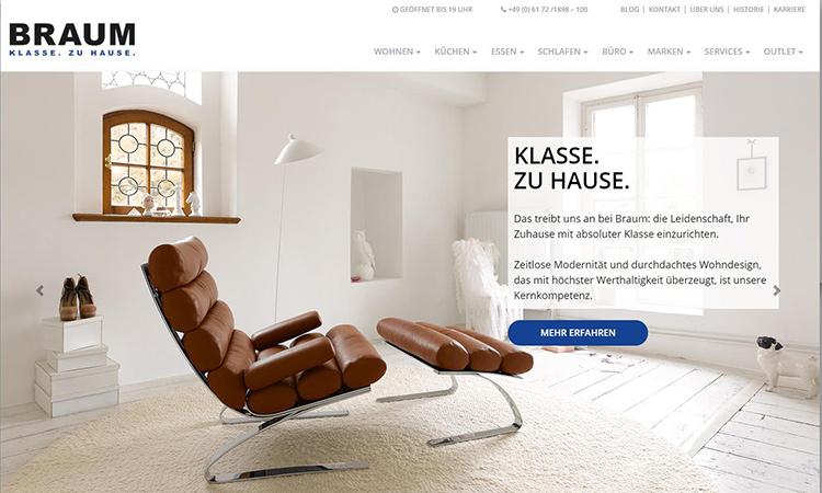 Möbel Braum Website