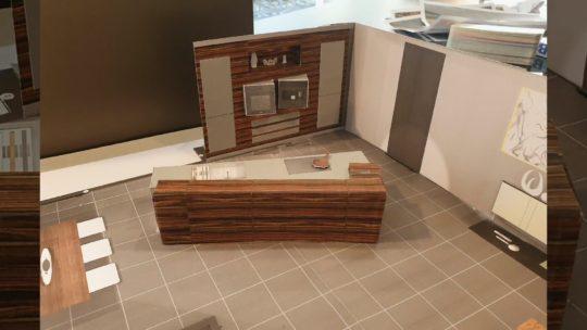 3D-Modell einer Küche